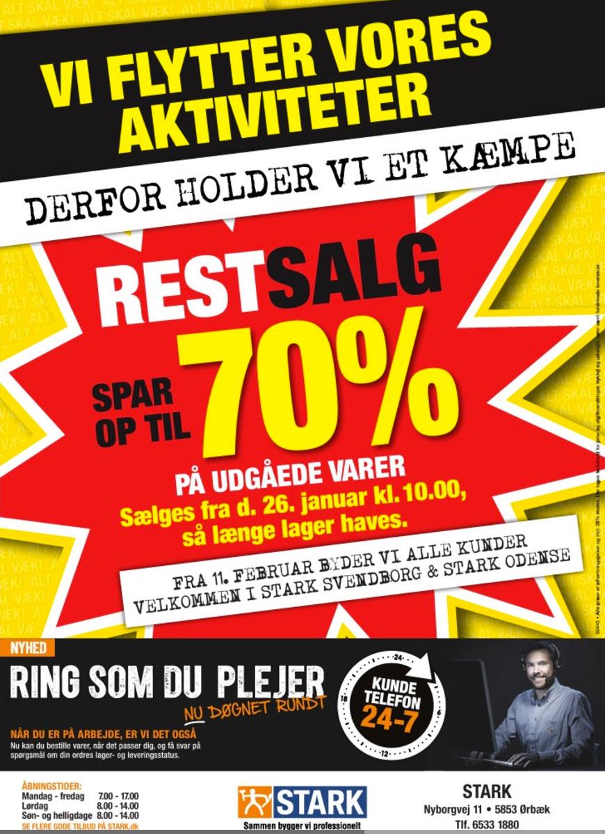 Spar op til 70% hos STARK Ørbæk